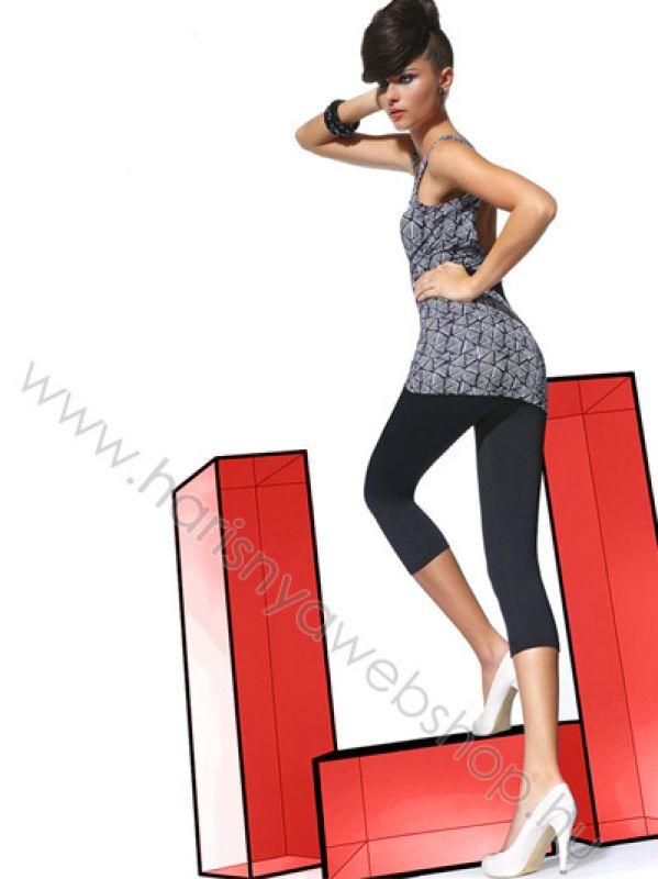 efe6202fd1 200 den Bas Bleu, NINA mikroszálas rugalmas női leggings 3/4-es ...